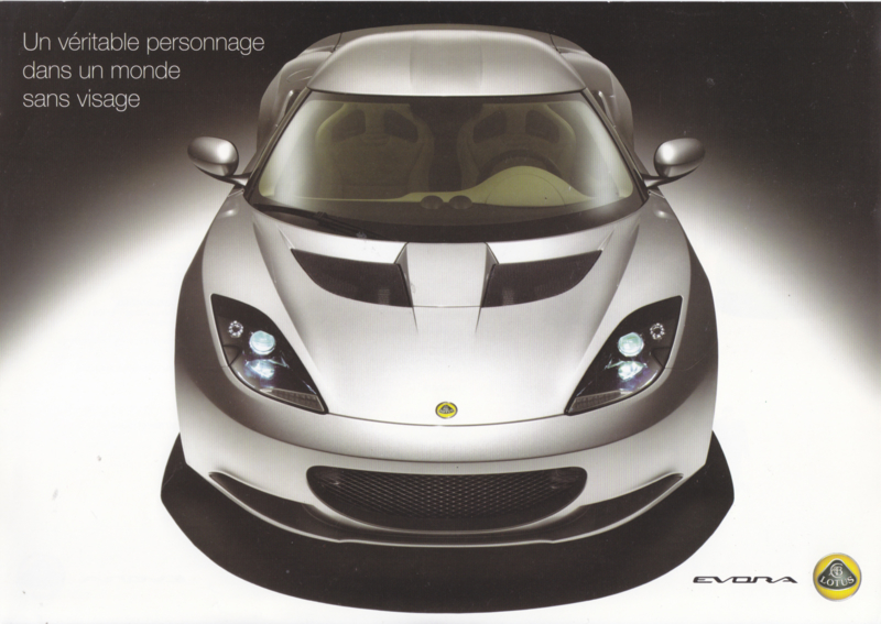 Evora, 2 page leaflet, DIN A4-size, factory-issued, 2008, French language