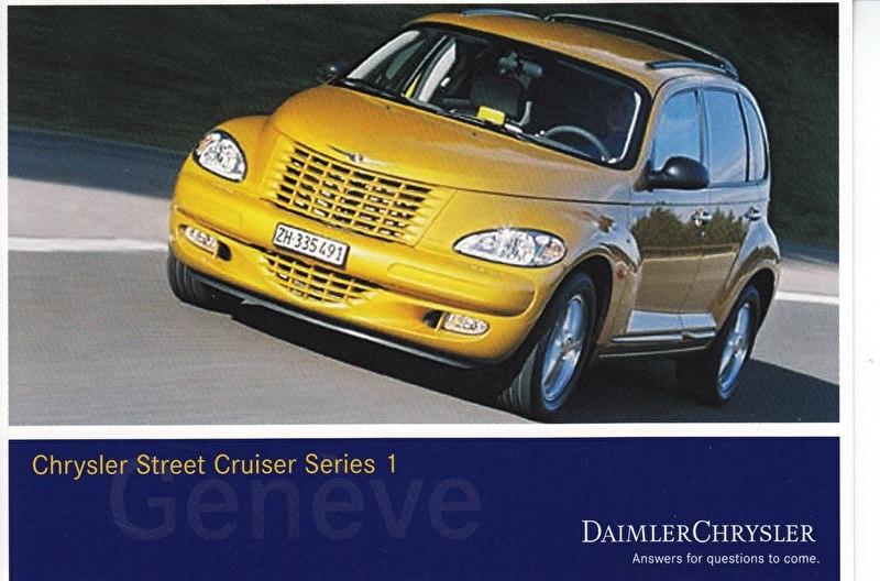 Chrysler Street Cruiser Series 1, A6-size postcard, Geneva 2002