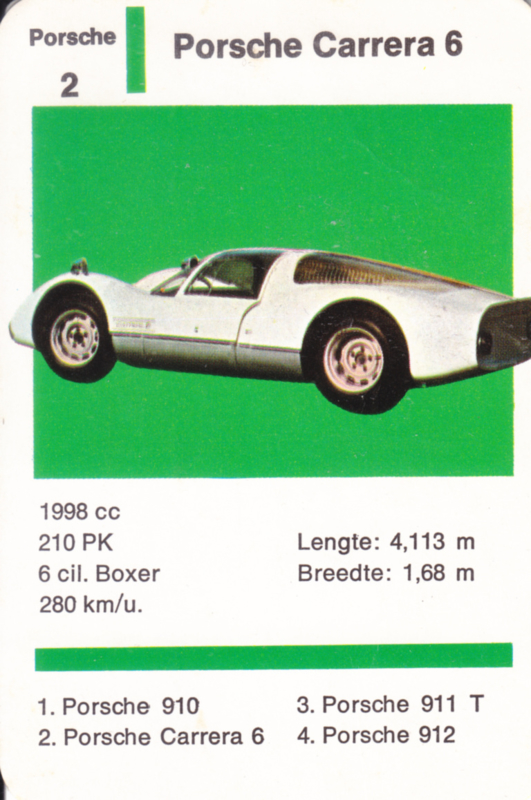 Carrera 6 - number 2 - size 10 x 6,5 cm, Dutch language