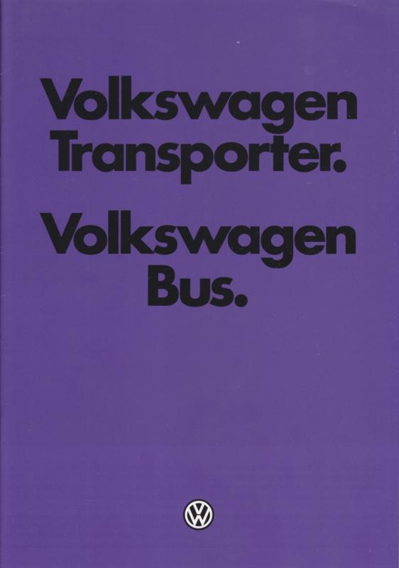 Transporter T3 brochure, 34 pages,  Dutch language, 08/1979
