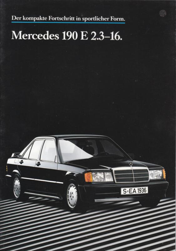 190E 2.3-16 brochure,  28 pages, 11/1984, German language