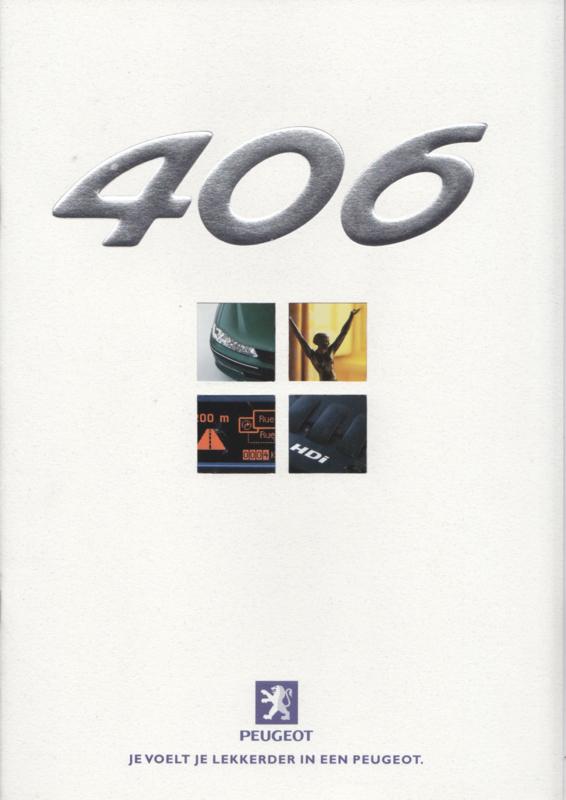 406 Sedan brochure, 28 pages, A4-size, 04/1999, Dutch language