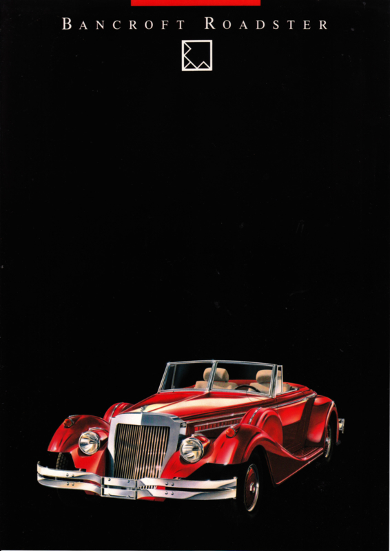 Bancroft Roadster leaflet, 2 pages, German language