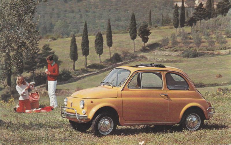 500 L, standard size, Italian postcard, undated, about 1967