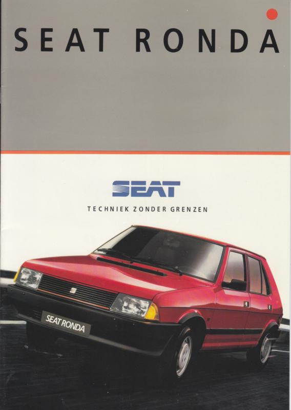 Ronda brochure, 16 pages, Dutch language, 11/1985