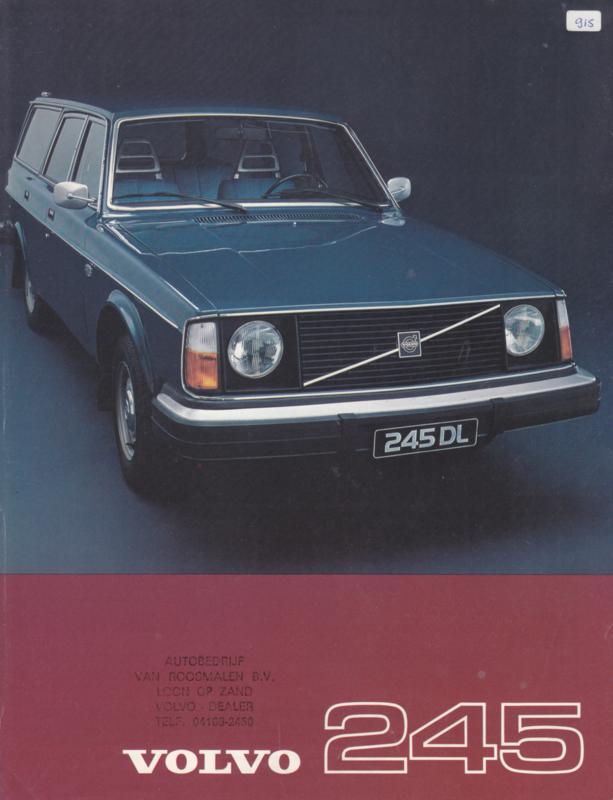 245 Estate leaflet, Dutch language, 1976