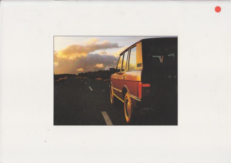Range Rover brochure, 22 pages, A4-size, 12/1986, German language