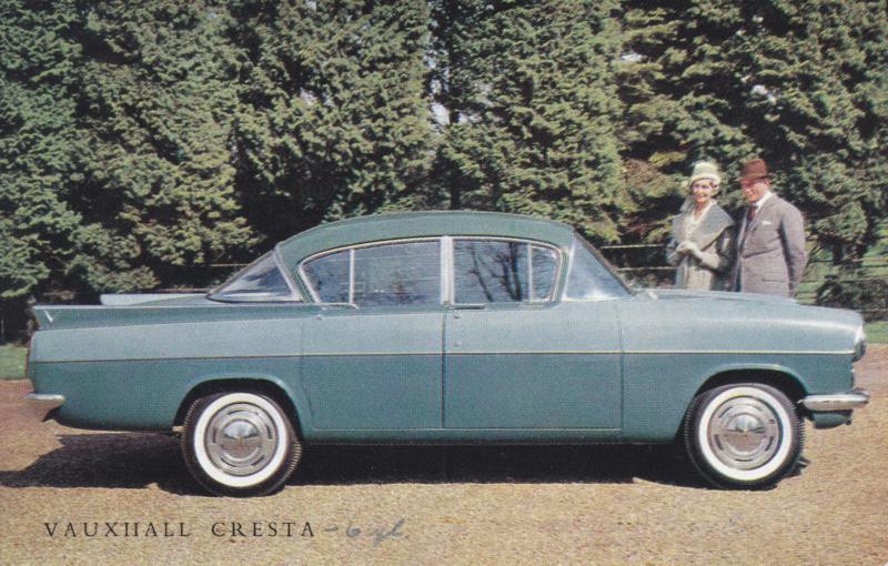 Cresta  PA 6 cylinder 4-door Sedan, standard-size postcard, approx. 1961, English