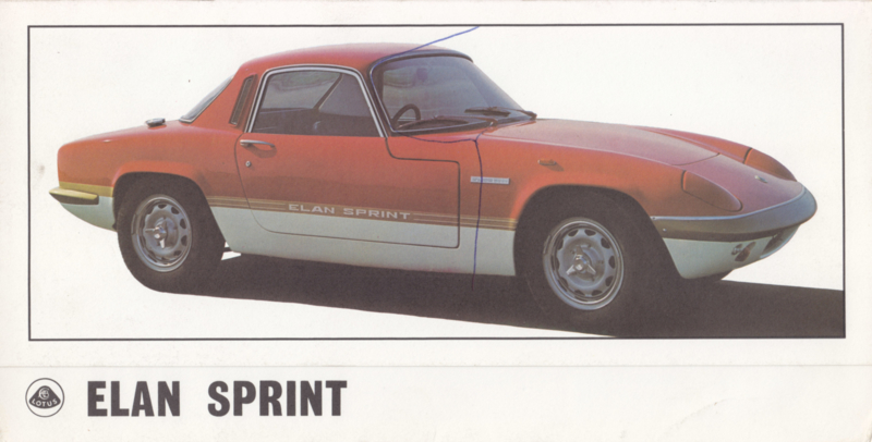 Elan Sprint brochure, 6 pages, factory-issued, c1971, English language
