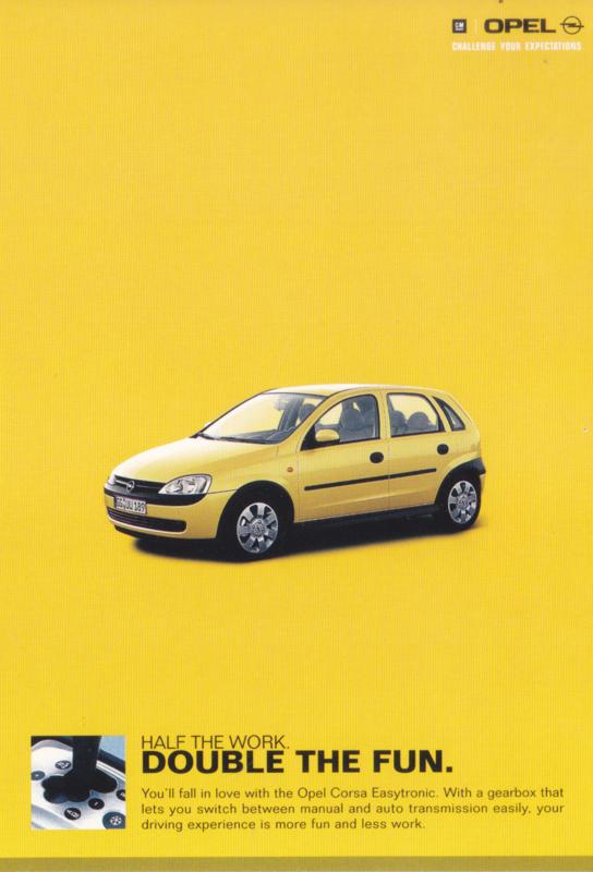 Corsa Easytronic postcard, DIN A6-size, 2001, Singapore, ZoCard