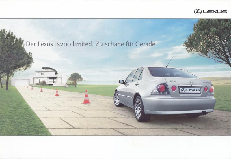 IS200 Limited Sedan brochure, 12 pages, 2004, German language