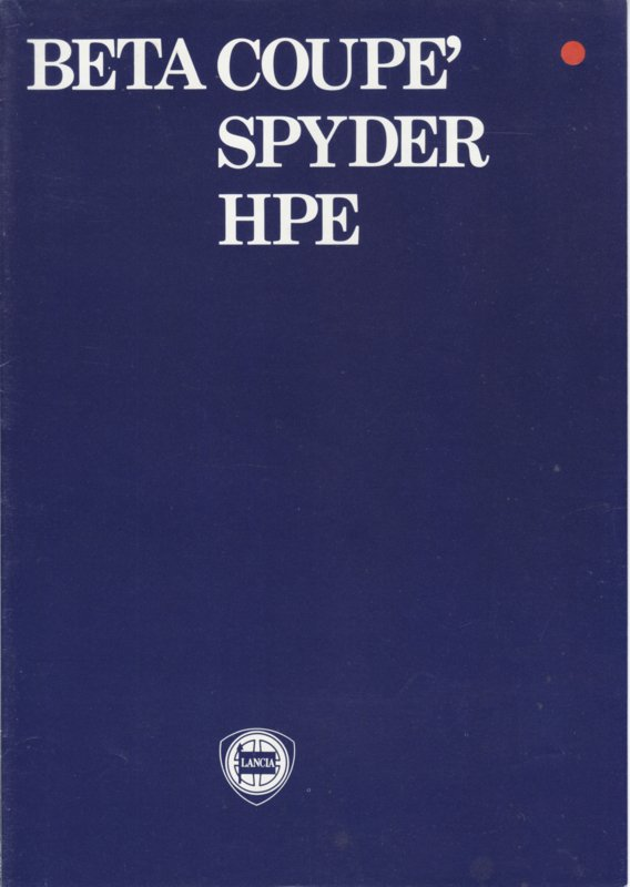 Beta Coupe/Spyder/HPE brochure, A4-size, 8 pages, about 1976, Dutch language