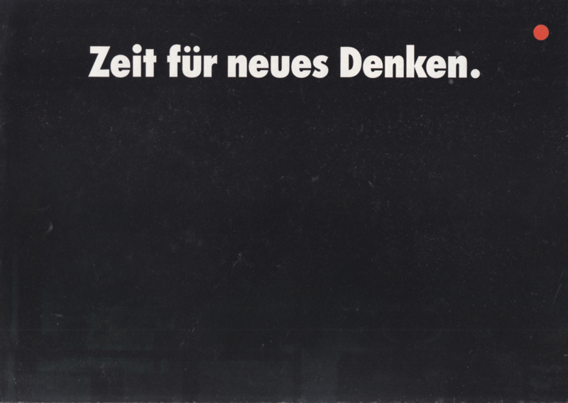 7-series introduction folder, 8 pages, A4-size, 1986, German language