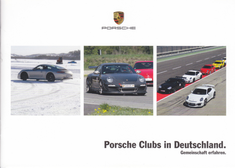 Porsche Clubs in Germany brochure, 12 pages, 09/2015, German