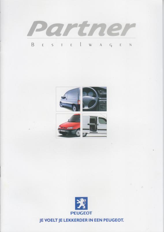 Partner Vans brochure, 16 pages, A4-size, 9/1999, Dutch language