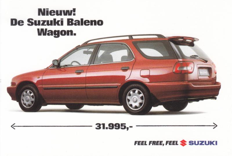 Baleno Wagon, DIN A6-size postcard, Dutch language, 1997