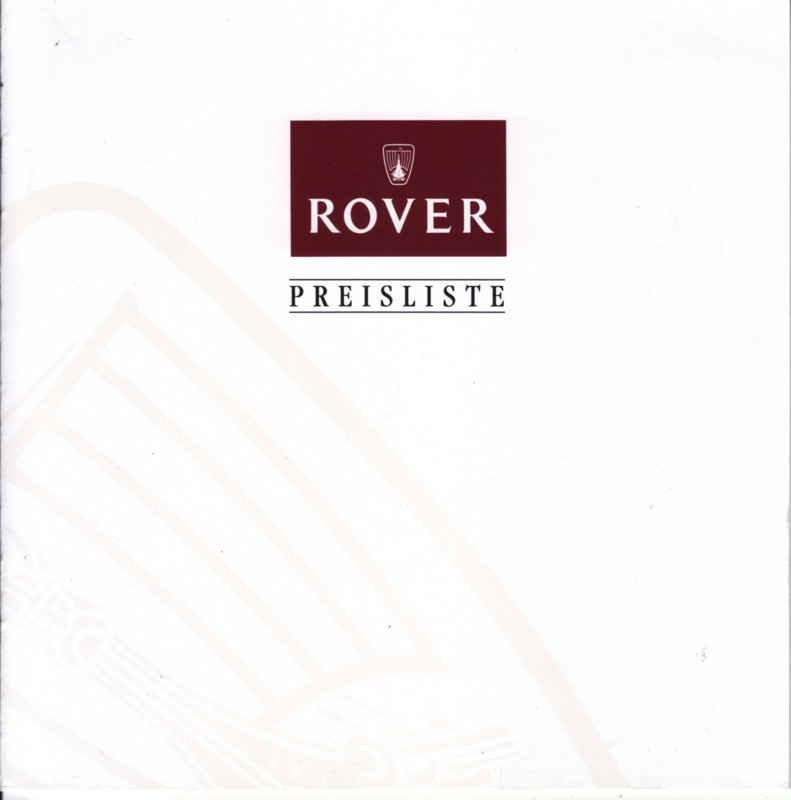 Pricelist folder, 8 small square pages, 8/1995, German language