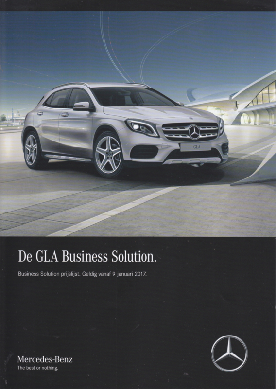 GLA Business Solution special edition brochure, 4 pages, 01/2017, Dutch language