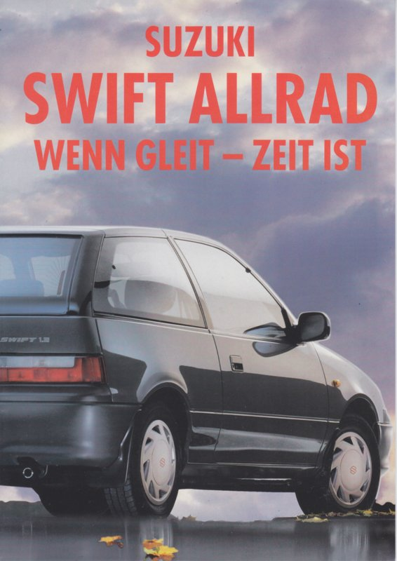 Swift 4WD brochure, 6 pages, 08/1993, German language