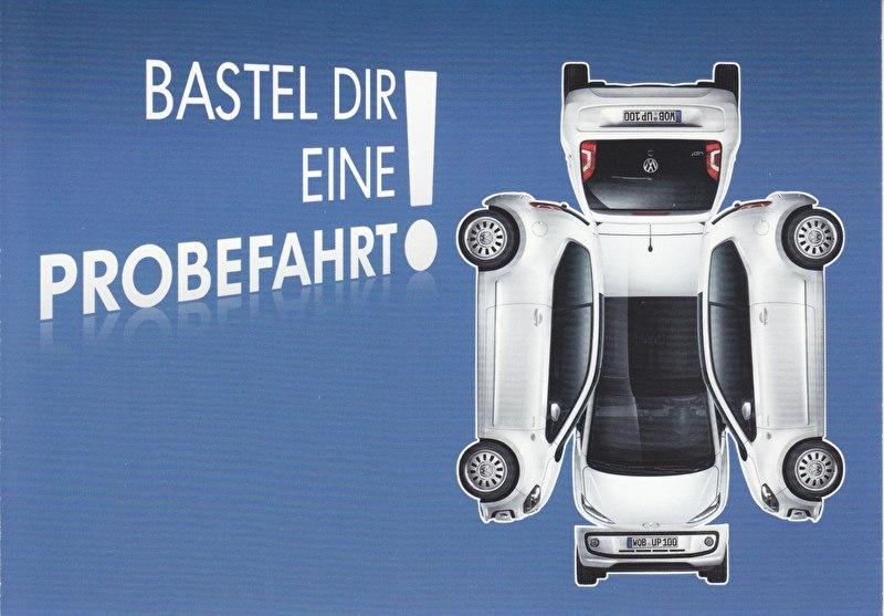 up! , A6-size postcard, German, 2013