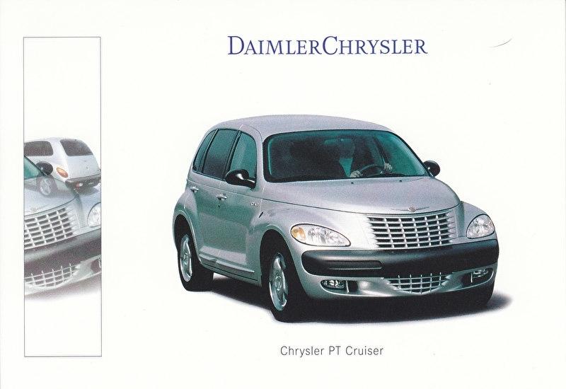 Chrysler PT Cruiser, A6-size postcard, IAA 1999, German
