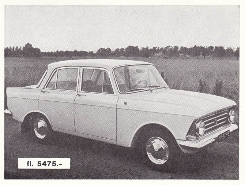 1400 Sedan, introduction card, about 1965, Dutch language