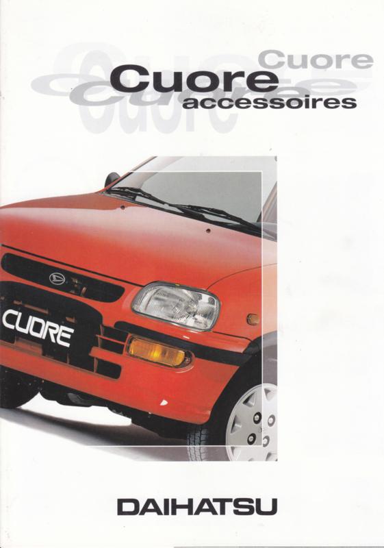 Cuore accessories brochure, 6 pages, about 1997, A4-size, Dutch language