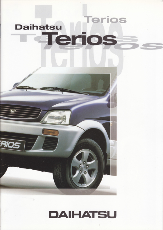 Terios brochure, 20 pages, 09/1997, A4-size, Dutch language