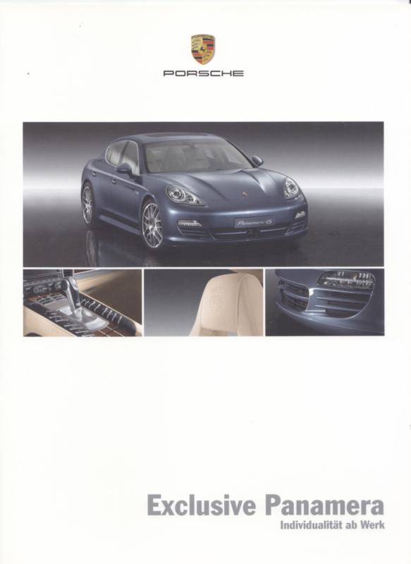 Panamera Exclusive brochure, 16 pages, 01/2009, German