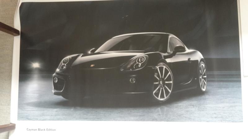 Cayman Black Edition large original factory poster, published 09/2015
