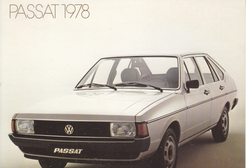 Passat 4-door Hatchback postcard,  A6-size, 1978, no text on reverse