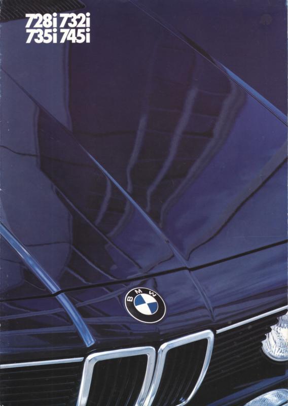 728i/732i/735i/745i Sedan folder, 6 pages, A4-size, 1/1982, German language