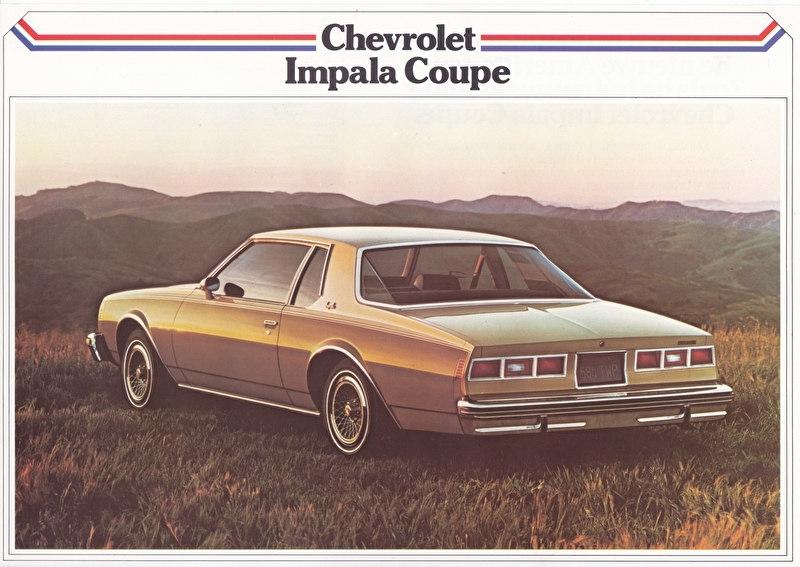 Impala Coupé 1979, 2 pages, export, Dutch language