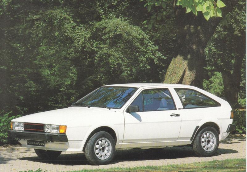 VW Scirocco by Karmann,  A6-size postcard, 1980s, German