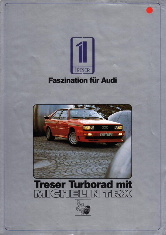 Treser Turborad with Michelin TRX folder, 4 pages, 05/1984, German language