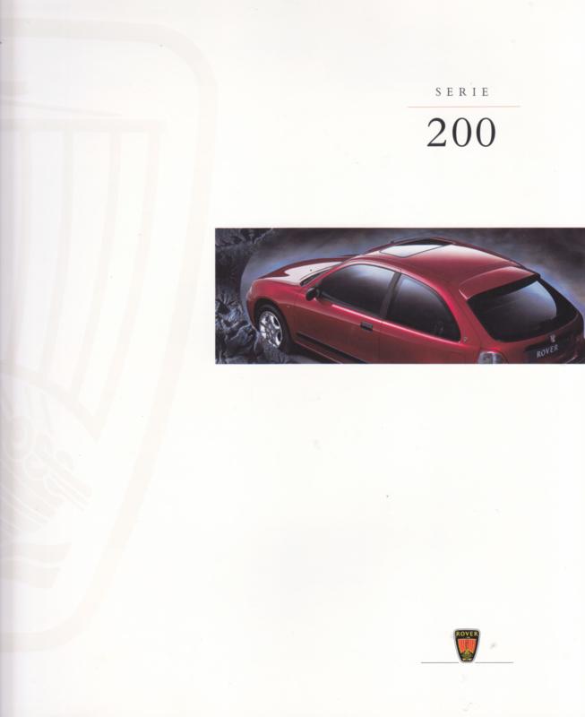 200 Serie brochure, 8 pages,  11/1995, Dutch language
