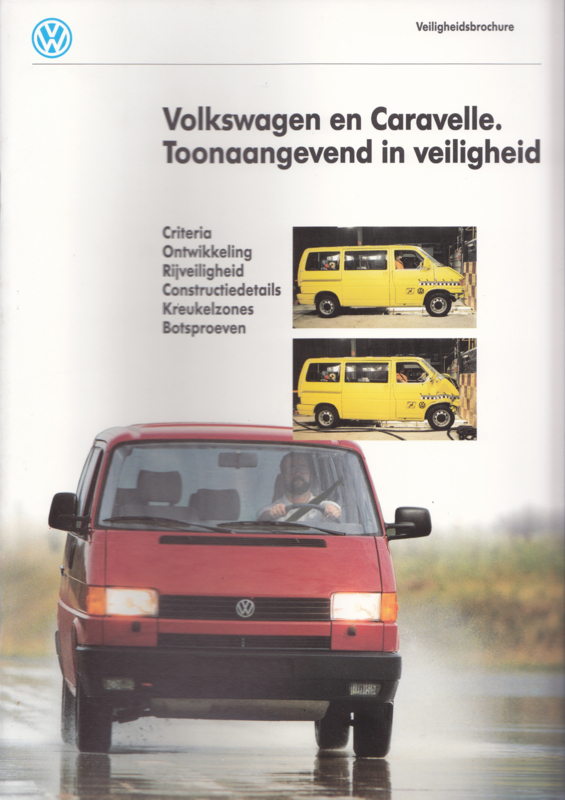 Transporter & Caravelle brochure, 52 pages,  A4-size, Dutch language, about 1992
