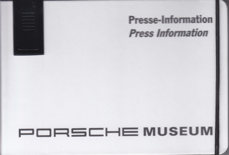 Porsche Museum Stuttgart, memory stick with pictures & small booklet, factory-issued,  German/English