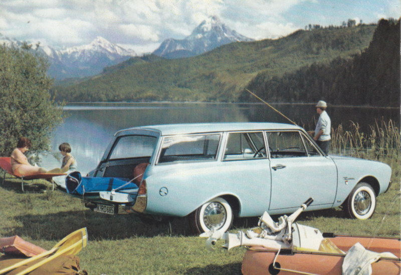 Ford Taunus 17M  2-door Wagon, advertising postcard, German, # 3 XD 160/3