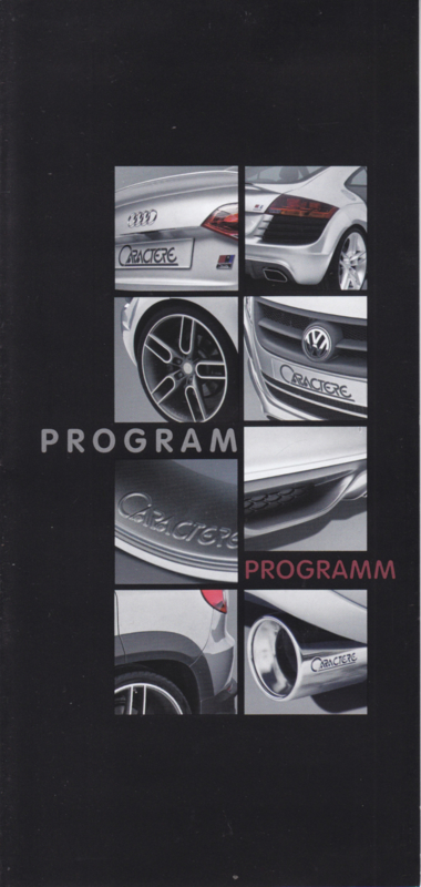 Caractère Tuning for Audi/VW brochure, 6 pages, German/English language, Belgium
