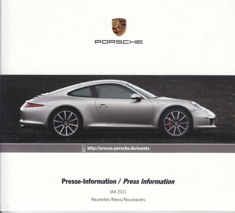 Porsche Press Kit IAA 2011, DVD with pictures & small booklet, factory-issued,  German/English