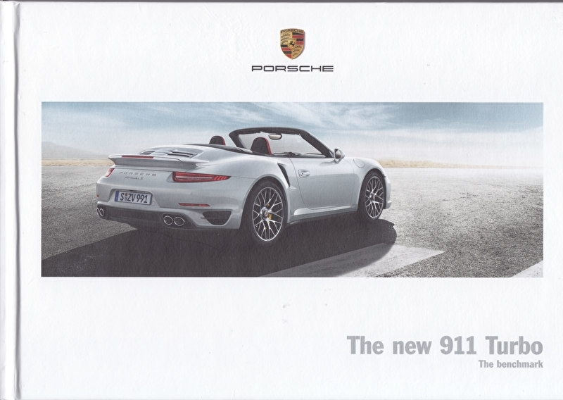 911 Turbo Coupe & Cabriolet brochure, 124 pages, 07/2013, hard covers, English