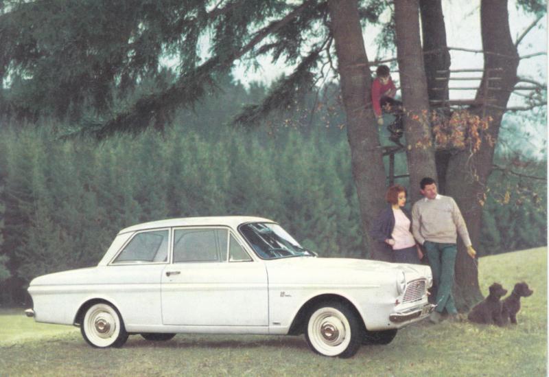 Ford Taunus 12M  2-door, advertising postcard, German, # 2 XD 126/2