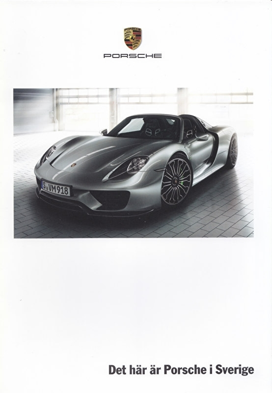 Porsche in Sweden brochure, 16 pages, about 2013, Swedish language