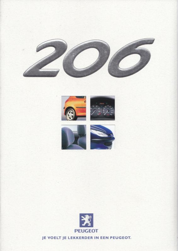 206 brochure, 36 + 8 pages, A4-size, 04/1999, Dutch language