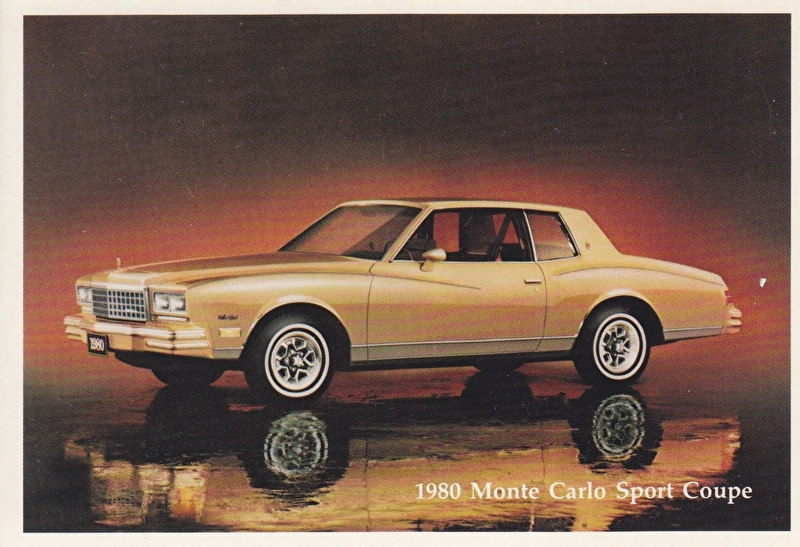 Monte Carlo Sport Coupe,  US postcard, standard size, 1980
