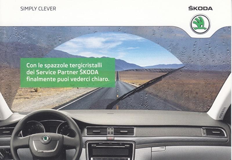 Service partner Skoda, A6-size postcard, Italian, 2014, ZIT80127151K
