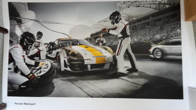 911 Motorsport large original factory poster, published 04/2011