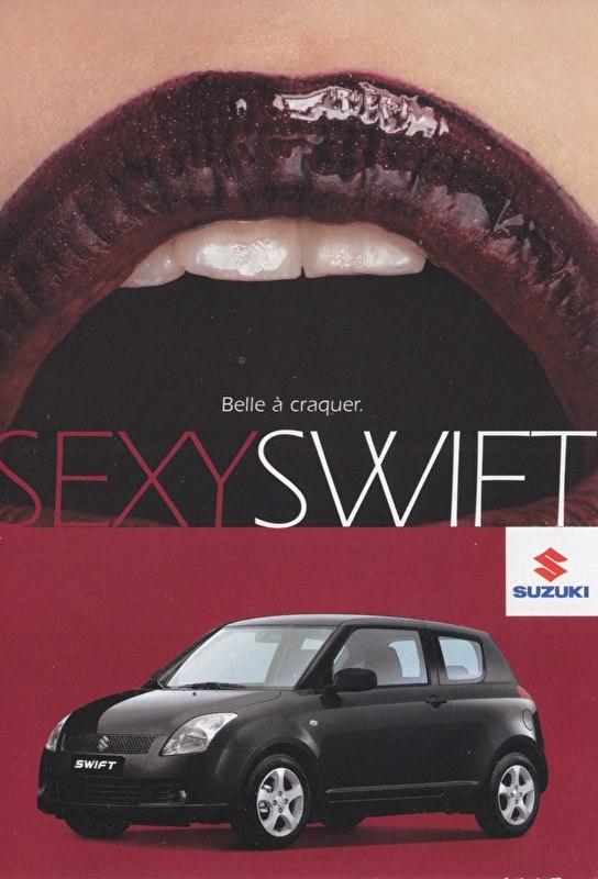 Swift, DIN A6-size postcard, French language, 2006