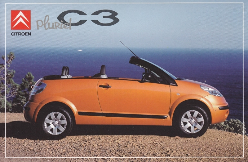 Citroen C3 Pluriel, sticker, 10 x 15 cm